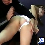 Humiliating PT exercise and brutal whippings for a pretty young girl