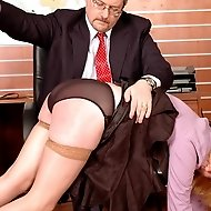 Secretary gets the paddle and strap