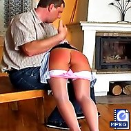 The headmaster hikes up Valerie`s skirt to caress and spank her perfect bottom