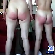 2 young Hotties spanked and humiliated in front of each other