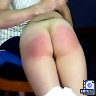 Pretty girl is getting her sports lesson and a severe spanking