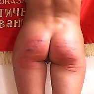 Young russian girl bound and caned to tears