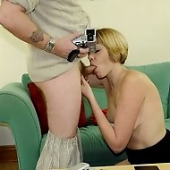 Blowjob for the photographer then punished