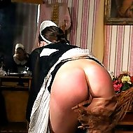 Pretty girls spanked, birched and whipped - hot red stripes
