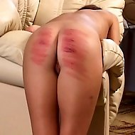 Cruel headgirl is brutally caning a stunning beautiful young russian girl